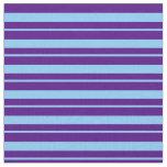 [ Thumbnail: Indigo & Light Sky Blue Stripes/Lines Pattern Fabric ]