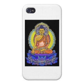 Indigo Lotus Buddha iPhone 4 Cases