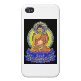 Indigo Lotus Buddha Cases For iPhone 4