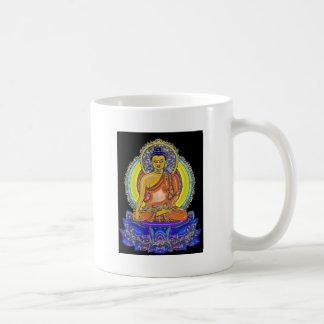 Indigo Lotus Buddha Classic White Coffee Mug