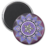 Indigo Lotus Magnet (round)