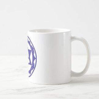 Indigo Lotus Classic White Coffee Mug