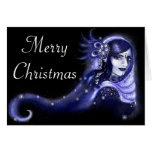Indigo-Merry Christmas Stationery Note Card