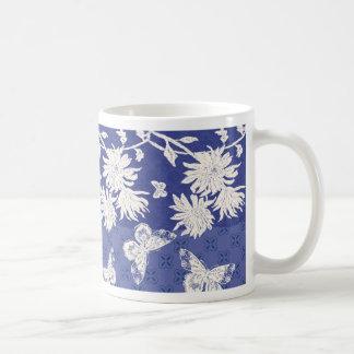 Indigo Mums Classic White Coffee Mug