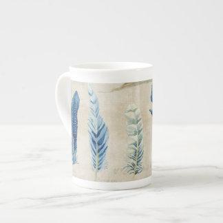 Indigo Ocean Beach Sketchbook Watercolor Shells Tea Cup