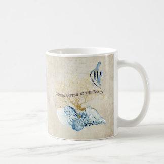 Indigo Ocean Life is Better at the Beach Shells Coffee Mug