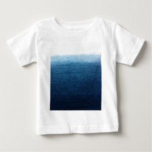 406b780f09d Indigo Ombre Fade Dip Dyed Shibori Baby T-Shirt