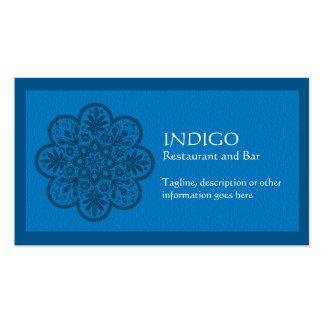 Indigo Ornament Business Card