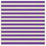 [ Thumbnail: Indigo & Pale Goldenrod Striped/Lined Pattern Fabric ]