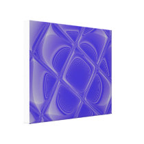 Indigo Petals Morphed Wrapped Canvas
