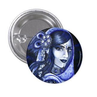 Indigo Pinback Button