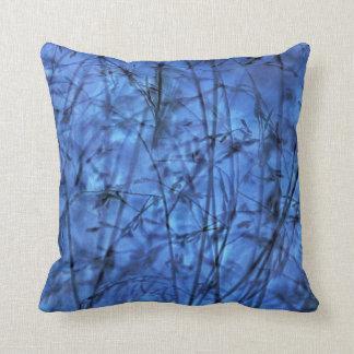 Indigo Plantscape Throw Pillow