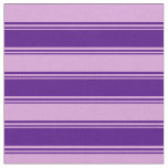 [ Thumbnail: Indigo & Plum Colored Stripes/Lines Pattern Fabric ]
