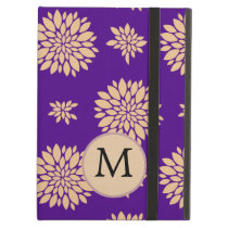 Indigo Purple and Coral Flowers Cover For iPad Air