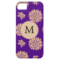 Indigo Purple and Coral Flowers iPhone SE/5/5s Case