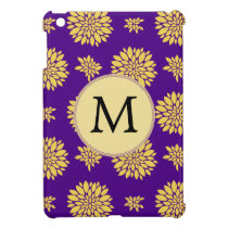 Indigo Purple and Yellow Monogram Cover For The iPad Mini