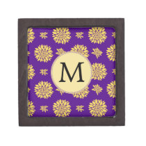 Indigo Purple and Yellow Monogram Gift Box