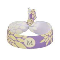 Indigo Purple and Yellow Monogram Hair Tie