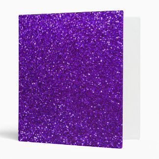Indigo purple glitter binder