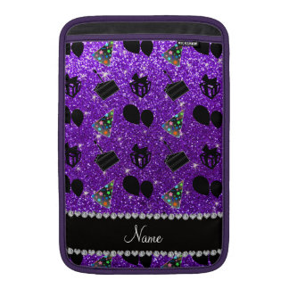 Indigo purple glitter hats cake presents balloons sleeve for MacBook air