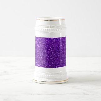 Indigo purple glitter 18 oz beer stein