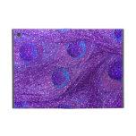 indigo purple glitter peacock feathers case for iPad mini