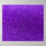 Indigo purple glitter poster
