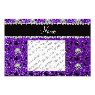Indigo purple glitter princess crowns wands stars photo print