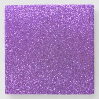 Indigo purple glitter stone coaster
