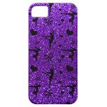 Indigo purple gymnastics glitter pattern iPhone 5 cover