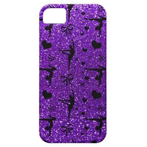 Indigo purple gymnastics glitter pattern iPhone 5/5S case