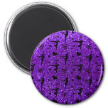 Indigo purple gymnastics glitter pattern refrigerator magnets