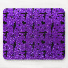 Indigo purple gymnastics glitter pattern mouse pad