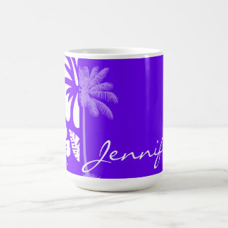 Indigo, Purple Hawaiian Palm Tree Coffee Mug