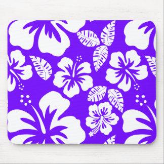 Indigo, Purple Hawaiian Tropical Hibiscus Mouse Pad