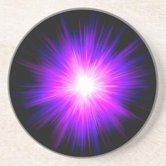 Indigo purple healing flame reiki divine energy coaster