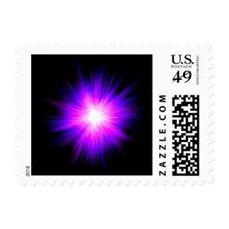 Indigo purple healing flame reiki divine energy postage