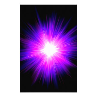 Indigo purple healing flame reiki divine energy customized stationery