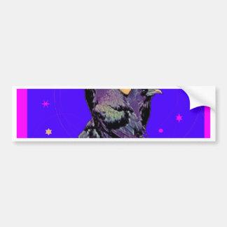 Indigo Purple Night Birds by Sharles Bumper Sticker