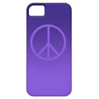 Indigo Purple Peace Sign iPhone SE/5/5s Case