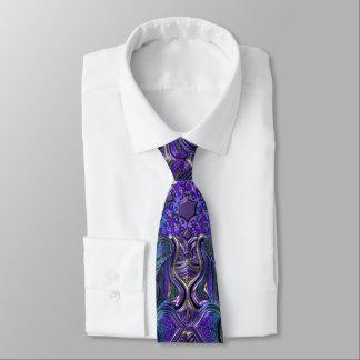 Indigo Purple Psychedelic Mandala Tie