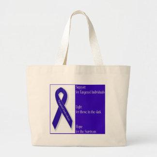 Indigo Ribbon Carry Bag