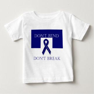 Indigo Ribbon- Don't Bend. Don't Break. DBI Baby T-Shirt