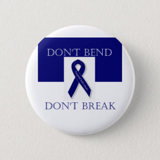 Indigo Ribbon- Don't Bend. Don't Break. DBI Button