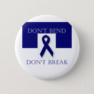 Indigo Ribbon- Don't Bend. Don't Break. DBI. Button
