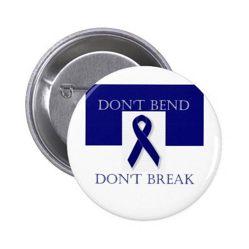 Indigo Ribbon- Don't Bend. Don't Break. DBI. Pinback Buttons