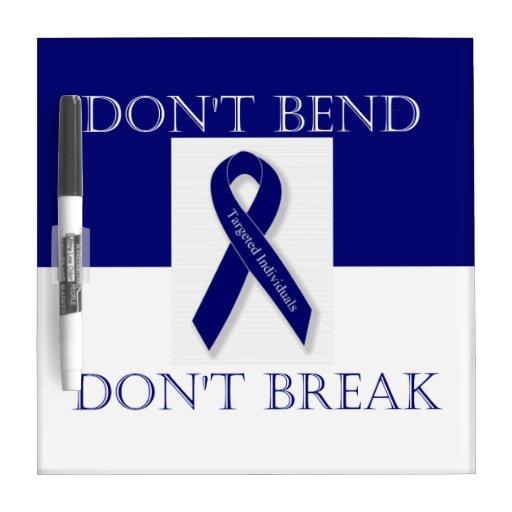 Indigo Ribbon- Don't Bend. Don't Break. DBI Dry Erase Whiteboard