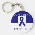 Indigo Ribbon- Don't Bend. Don't Break. DBI Keychain