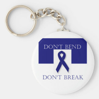 Indigo Ribbon- Don't Bend. Don't Break. DBI. Keychain