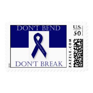 Indigo Ribbon. -Don't Bend. Don't Break. DBI Postage